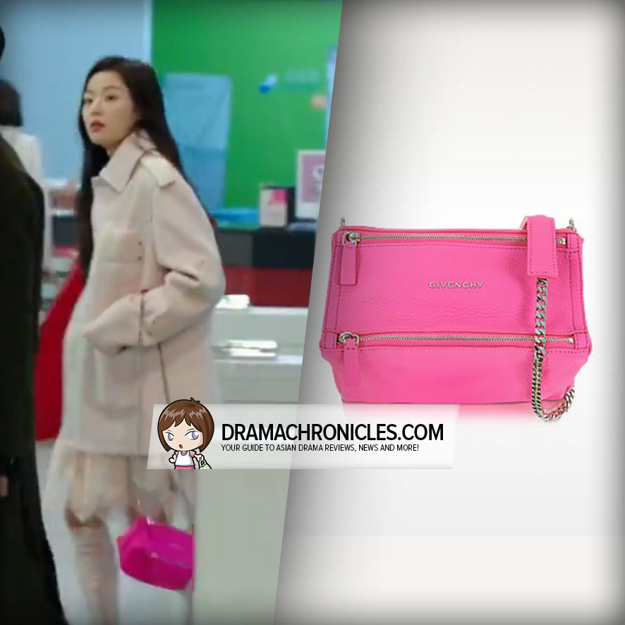 Jun Ji Hyun wearing Givenchy's Pandora Bag.