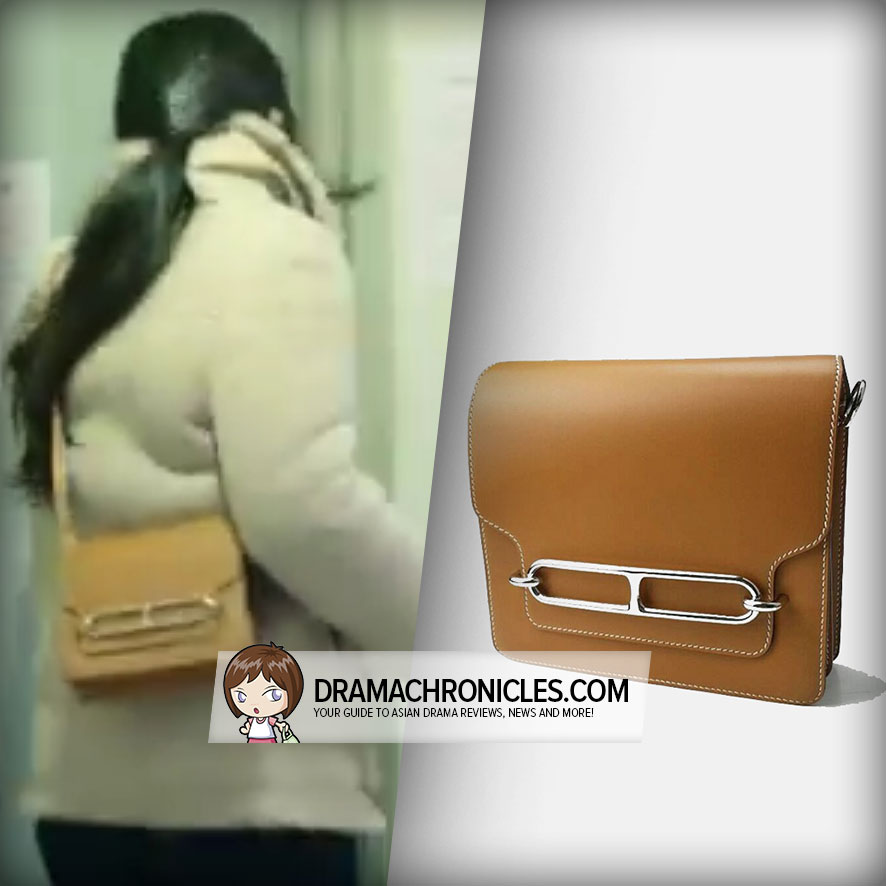 Jun Ji Hyun wearing Hermès Roulis Bag.