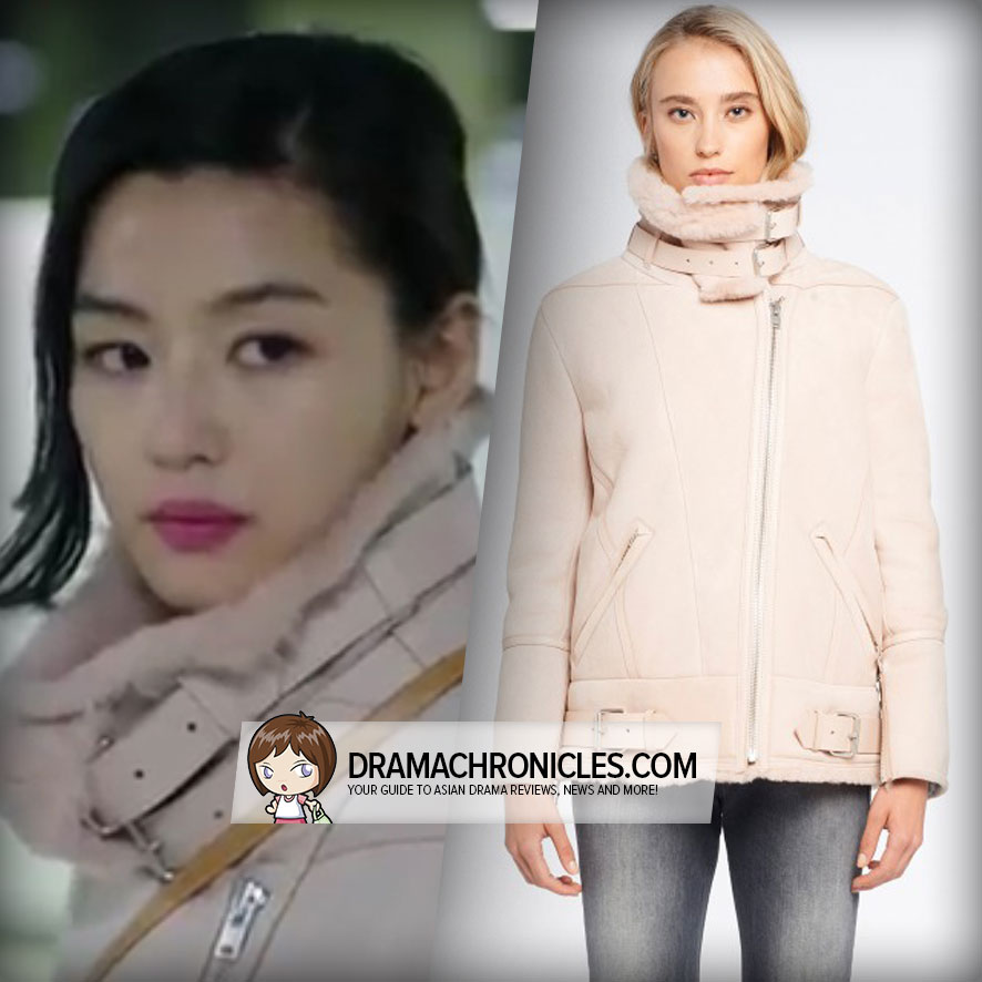 Jun Ji Hyun wearing IRO's Barrett Shearling Coat.