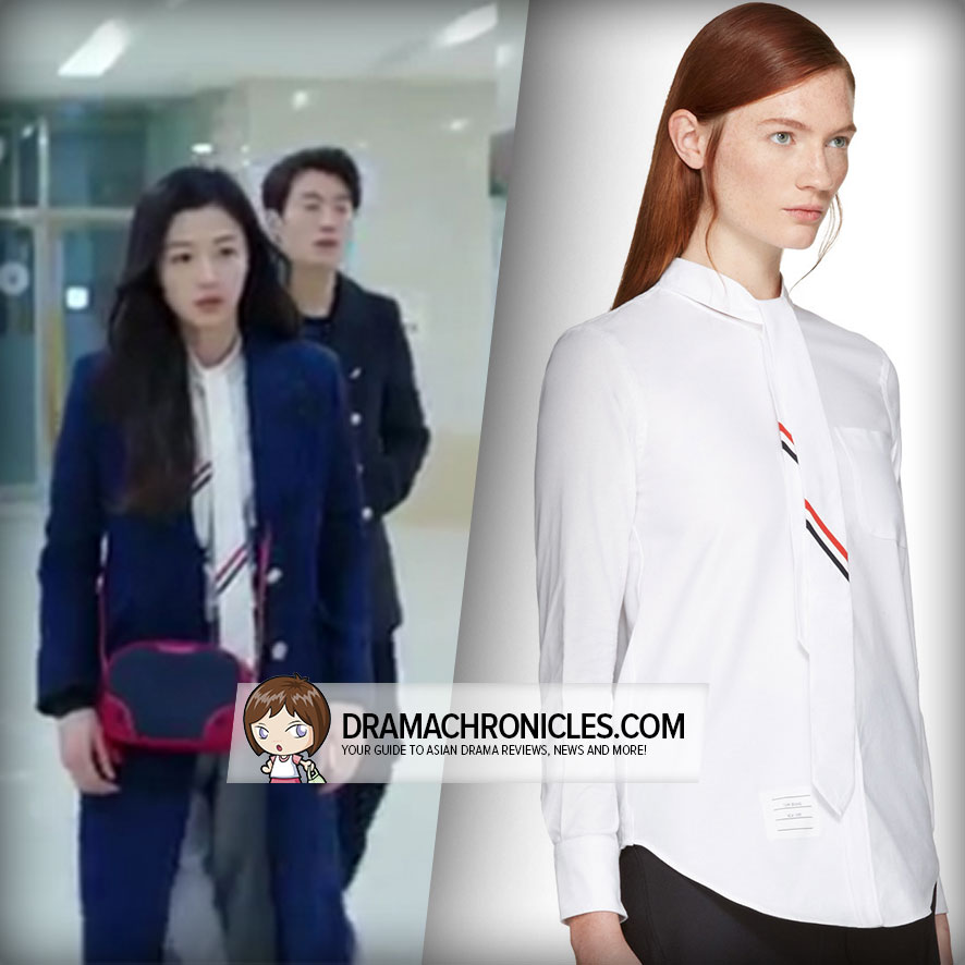 Jun Ji Hyun wearing Thom Browne Shirt.