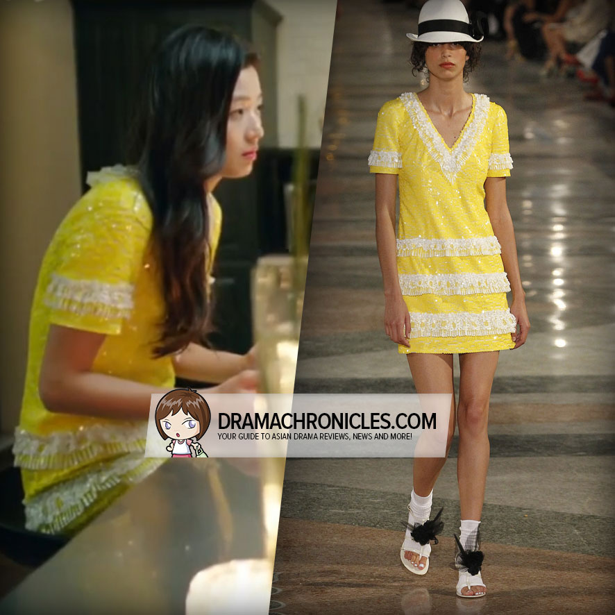 Jun Ji Hyun wearing a look from Chanel's Resort 2017 Collection.