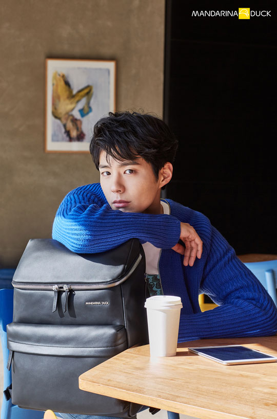 Park Bo Gum c/o Mandarina Duck