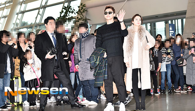 Rain and Kim Tae Hee c/o Newsen