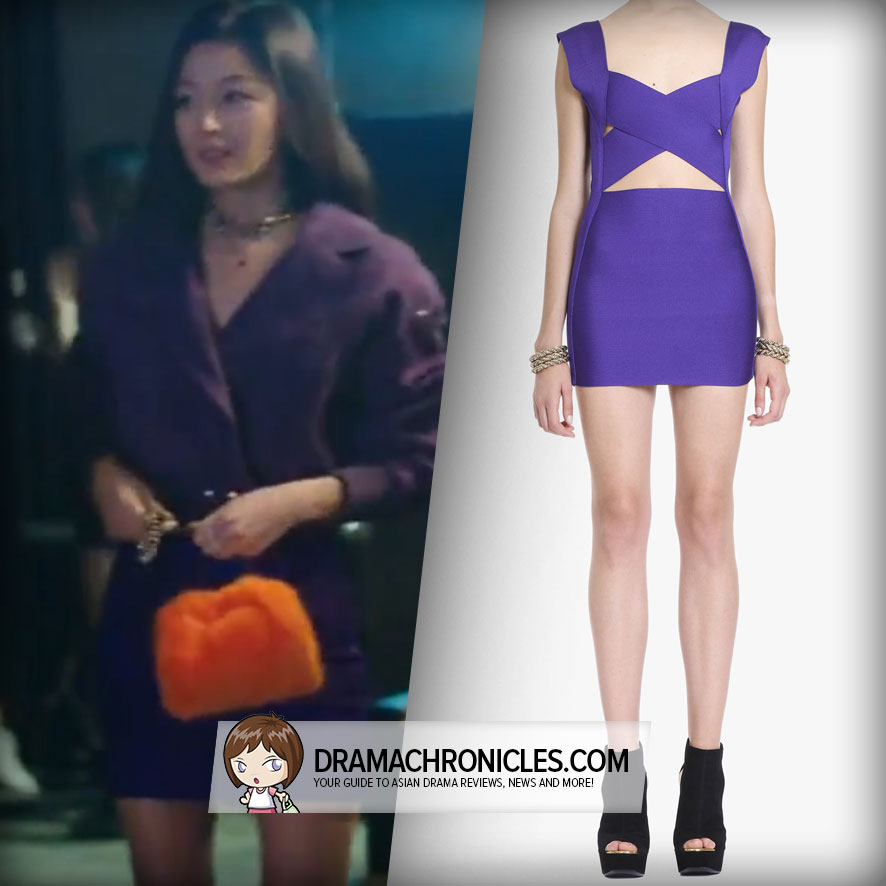 Jun Ji Hyun wearing Balmain's Bandage Dress.