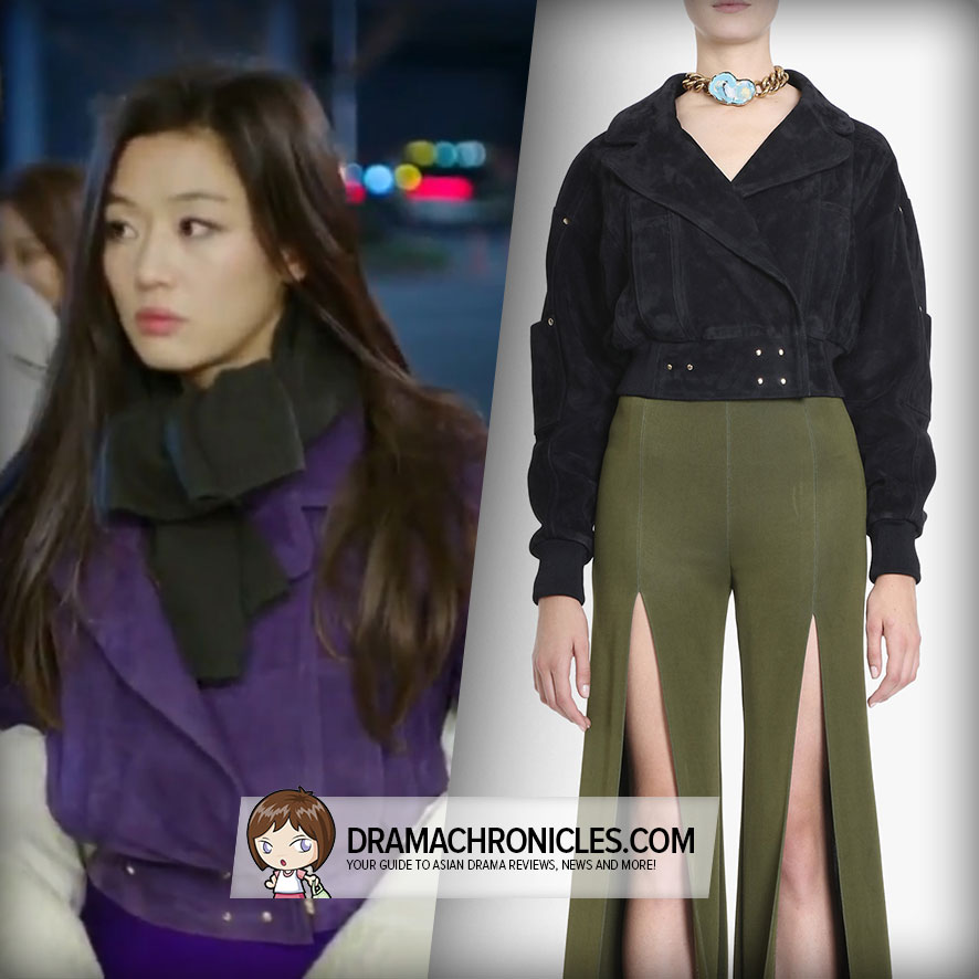 Jun Ji Hyun wearing Balmain's Cropped Jacket.