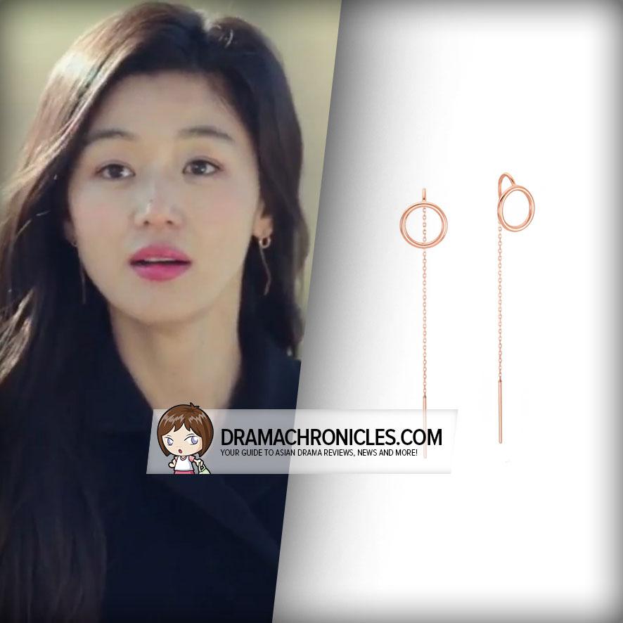 Jun Ji Hyun wearing Stonehenge's Earrings.