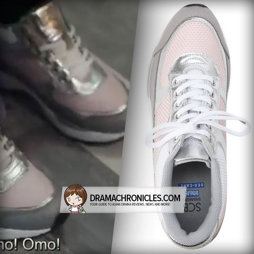 Jun Ji Hyun wearing Suecomma Bonnie's Miracle Pink Sneakers.
