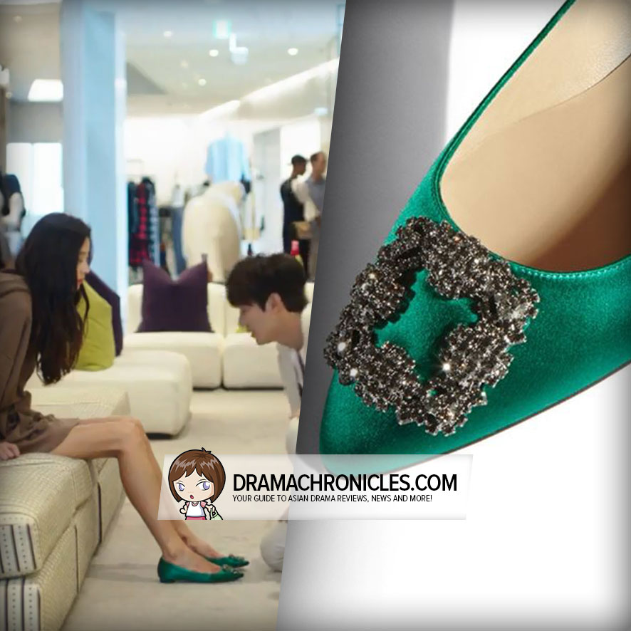 Jun Ji Hyun in Manolo Blahnik Flats