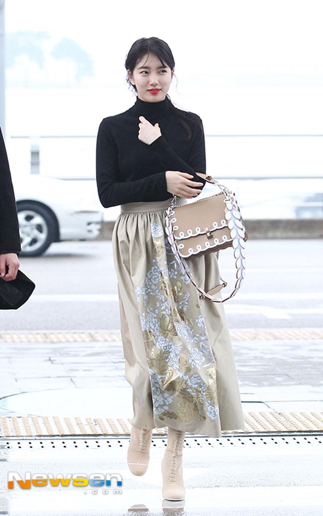 Bae Suzy February Airport Fashion 01 Drama Chronicles Drama