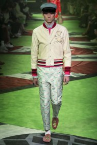Model photo c/o Vogue from Gucci Spring 2017 Menswear Collection