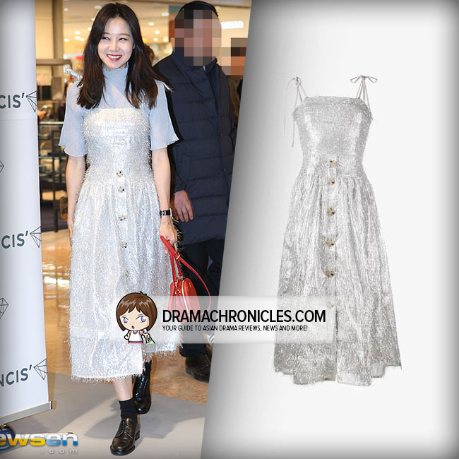 Gong Hyo Jin wearing Rejina Pyo dress.
