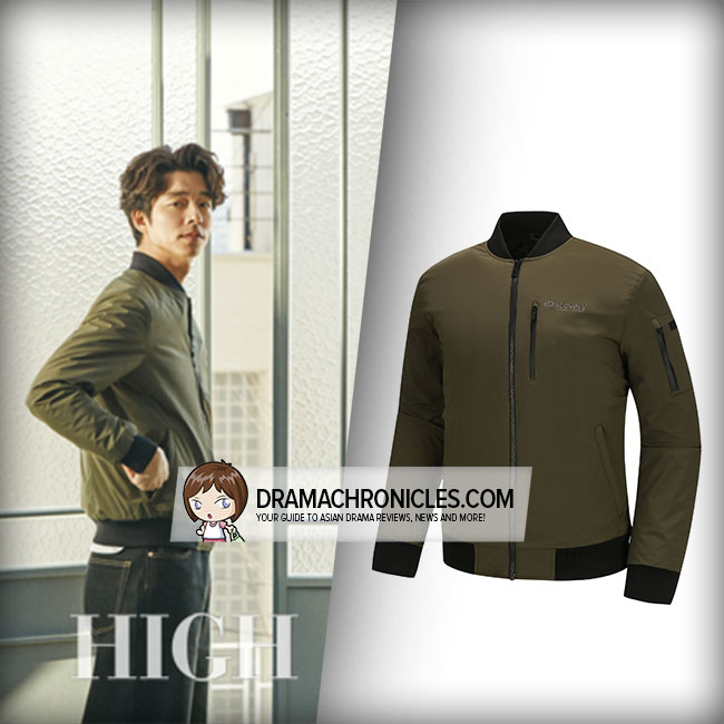 Gong Yoo wearing Discovery Expedition Air Jumper.