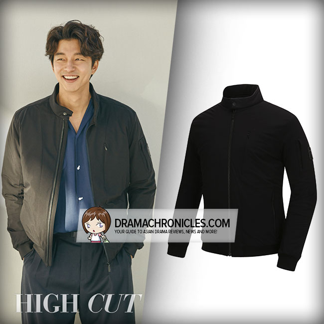 Gong Yoo wearing Discovery Expedition High Neck Padded Jacket.