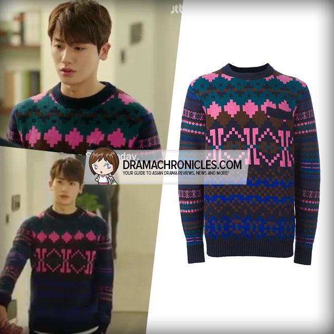 Park Hyung Sik wearing Sacai sweater.