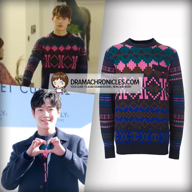 Seo Kang Joon and Park Hyung Sik wearing Sacai sweater.