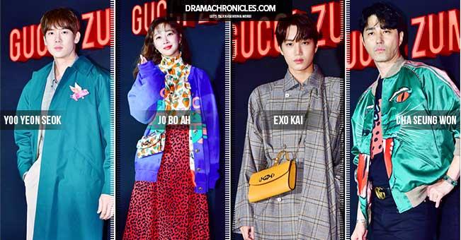 EXO-Kai-Jo-Bo-Ah-Cha-Seung-Won-Yoo-Yeon-Seok--Gucci-Event-Feat-Image-Drama-Chronicles